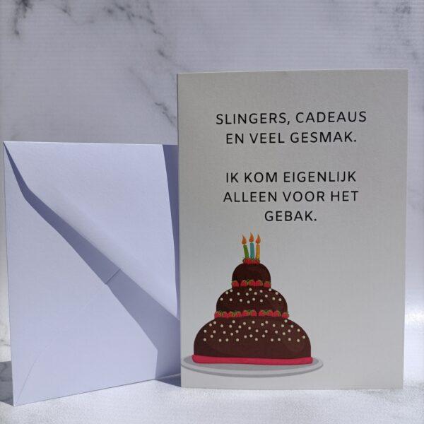 Verjaardagskaart met grappige tekst